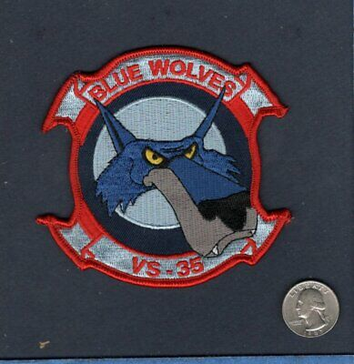 STICKER USN VS 35 BLUE WOLVES GULF WAR