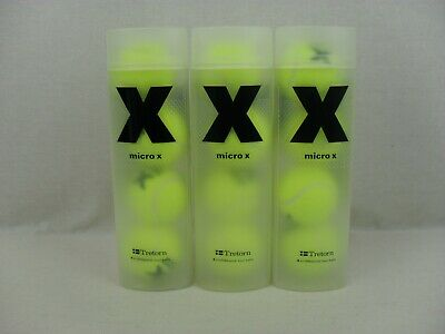 Tretorn Micro X Professional Tour Tennis Balls - 3 Tubes With 4 Balls In Each