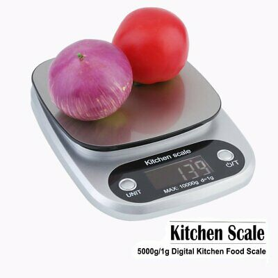 LCD Electronic Digital Kitchen Scale Cooking Weighing Food Scale 5KG/11LBS TO