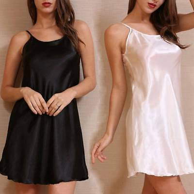Silk Nightgown Breathable Ice Silk Nightgown Thin Section Girl's Silk Nightdress