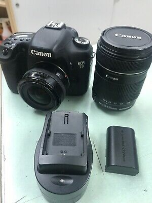 Canon EOS 7D 18.0MP Digital SLR Camera - Black EF-S IS 18-135mm Lens , 28mm Lens