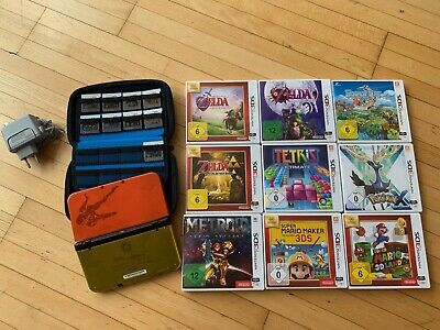 New Nintendo 3DS XL Samus Edition + 9 Games + Case + Charger