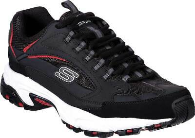 587a89998c30 NEW Mens Skechers Stamina Cutback Taupe Tan Brown Black Leather Training  Shoes