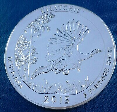 2015 Kisatchie America the Beautiful ATB 5 Ounce .999 Silver Coin w/air-tite