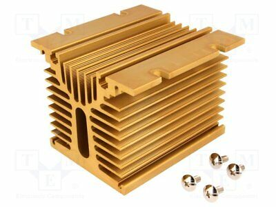 Heatsink: extruded; Y; for 3 phase relays; golden; L:104mm; H:81mm (1 pcs)