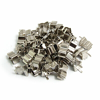 50 Pcs Electron Component 5 x 20mm Fuse Tube Clamps