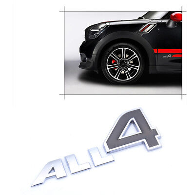For MINI Cooper R60 R61 F60 Countryman Paceman Silver ALL4 Emblem Car Stickers