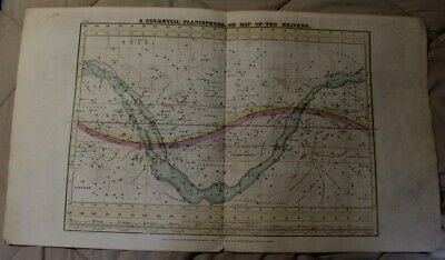 1835 Map of Celestial Planisphere of the Whole Heavens on Mercator's Projection