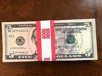100 2013  Uncirculated $2 Dollar Bills In Sequential Order B498A NY 1 PACK of