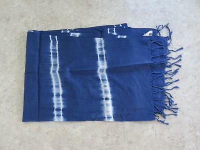 Am. Eagle Outfitters Blue & White Tie-Dyed 46 x 16 Cotton Blnd Rectangular Scarf