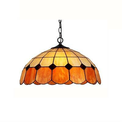 """Stained Glass Chloe Lighting Victorian 2 Light Ceiling Pendant Fixture 18"""" Shade"""