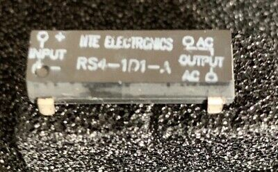 """NTE Electronics RS4-1D1–A Relay """"New"""" -Free Shipping"""