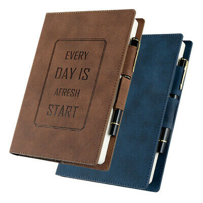 A5 Leather Cover Vintage Retro Journal Notebook Lined Paper Diary Planner