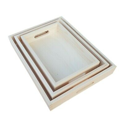 Wooden Serving Tray in three sizes, Breakfast Kitchen Platter for Decoupage