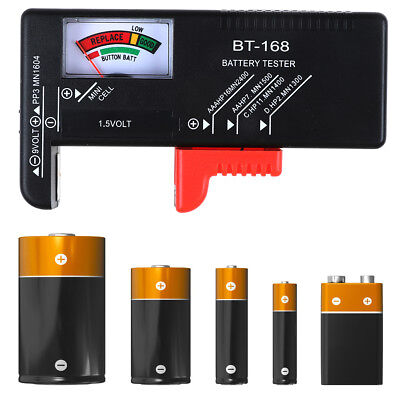 NEU LCD Battery Tester Volt Checker For 9V 1.5V AA AAA Cell BT-168D Useful LE