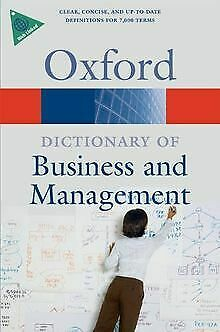 A Dictionary of Business and Management (Oxford Dicti...   Book   condition good