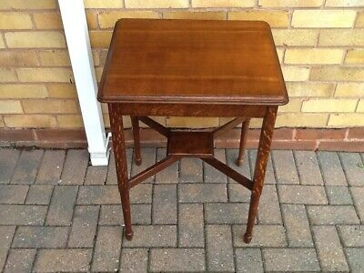 ART DECO SOLID OAK OCCASIONAL/SIDE TABLE 1930s