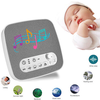 White Noise Sound Machine Sound Therapy plays 7 Soothing Nature Sound & 3 Timers