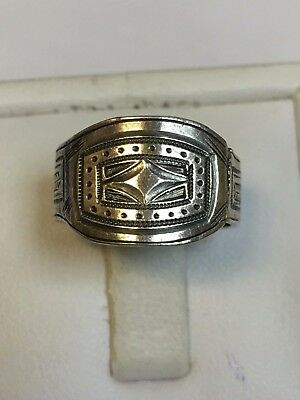 Antique WILLIAM IV Sterling Silver SIGNET STYLE RING 1830's Very Rare