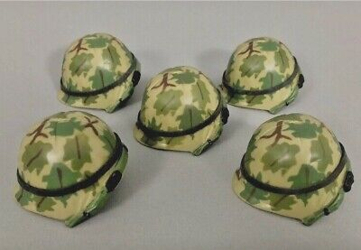 """5 21St Century Toys Plastic Jungle Camo Helmets For 1/6Th Scale Or 12"""" Figures"""