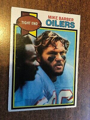 Mike Barber, Oilers. 1979 Nfl Topps Collectors Card #37. Free Uk Postage.
