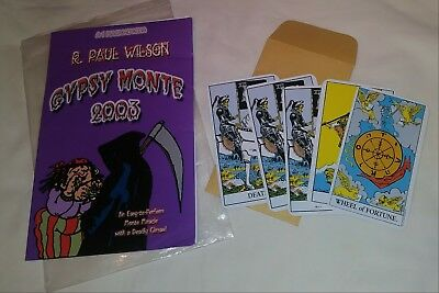 R PAUL WILSON GYPSY MONTE - TAROT CARDS PETER KANE EMERSON & WEST A1 Outof print