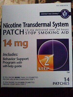 Nicotine Patches - Step 2 - 14mg - 14 Patches - Exp 7/19