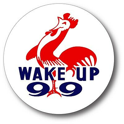 Wake Up 99 Gasoline Lubster Shell Marathon 66 Decal Gas Oil Can Pump Sticker