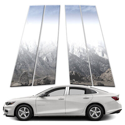 4p Stainless Pillar Post Covers fits 2016-2018 Chevy Malibu by Brighter Design