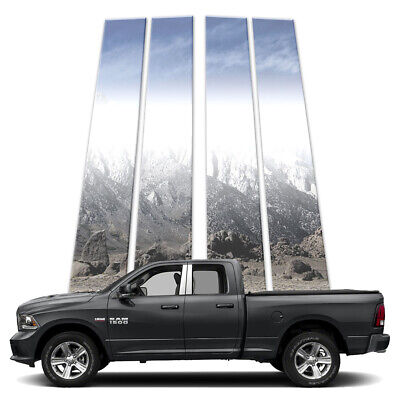 4p Stainless Pillar Post Covers fits 09-18 RAM 1500 Quad Cab by Brighter Design