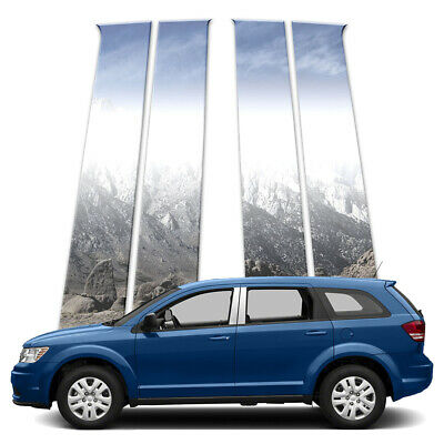 4p Stainless Pillar Post Covers fits 2009-2018 Dodge Journey by Brighter Design