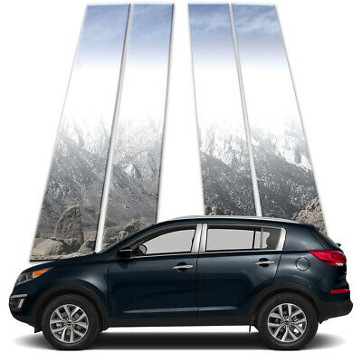 4p Stainless Pillar Post Covers fits 2011-2016 Kia Sportage by Brighter Design