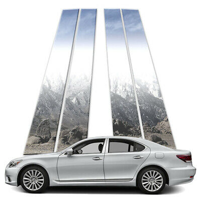 4p Stainless Pillar Post Covers fits 2007-2018 Lexus LS460 by Brighter Design