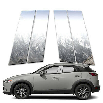 4p Stainless Pillar Post Covers fits 2016-2018 Mazda CX-3 by Brighter Design