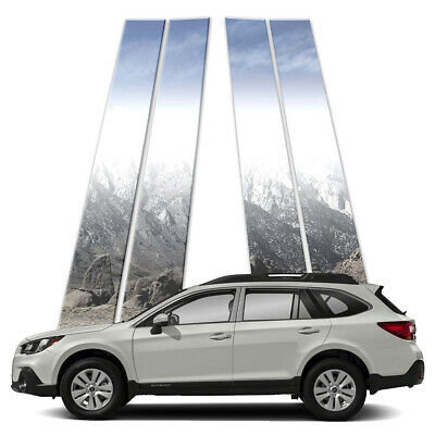 4p Stainless Pillar Post Covers fits 2015-2018 Subaru Outback by Brighter Design