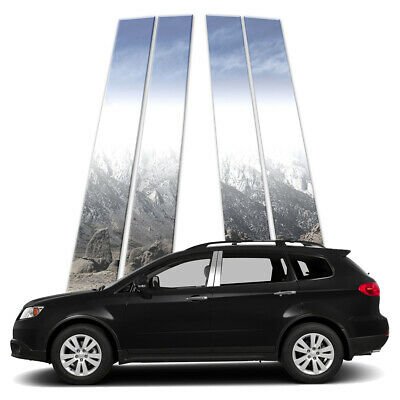 4p Stainless Pillar Post Covers fits 2013-2014 Subaru Tribeca by Brighter Design