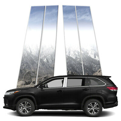 4p Stainless Pillar Post Covers fits 14-18 Toyota Highlander by Brighter Design