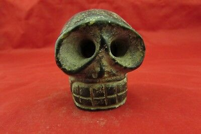 Chinese old jade hand-carved   Skull worth collecting C501
