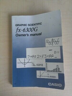 Original OEM Casio FX-6300G Calculator OWNERS MANUAL ONLY Scientific Graphing