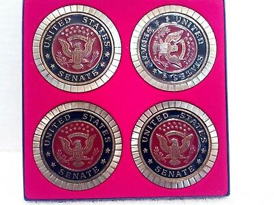 United States Senate Coasters Colored Filled in Box