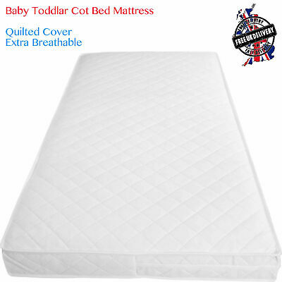 Baby Junior Cot Bed Mattress Breathable Cot Mattres Waterproof Zipped Cover