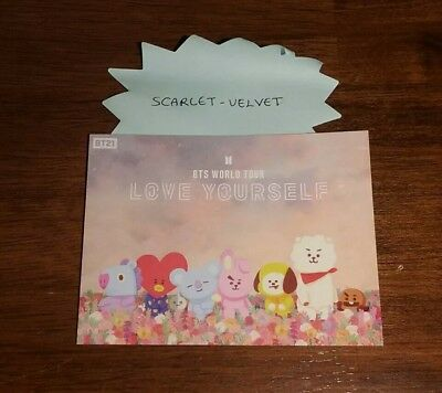 LINE FRIENDS x BT21 Sticker For BTS LOVE YOURSELF WORLD TOUR Official Limited Ed