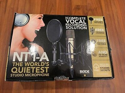 Rode NT1-A-MP Stereo Studio Vocal Cardioid Condenser Microphones New!!!