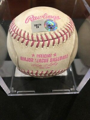 c3174b8fb55 Bryce Harper MLB Game Used Mothers Day Logo Baseball 5 12 13 Cubs vs