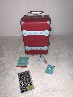 American Girl Doll Grace Thomas 2015 GOTY Travel Luggage Suitcase Complete