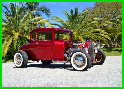 1930 Ford Model A Beautiful true Candy Apple Red 1930 Ford Model A Street Rod Steel Body Ford VIN 302 V8 automatic overdrive