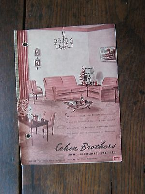 Cohen Brothers Furniture Pamphlet ,Retro Furniture