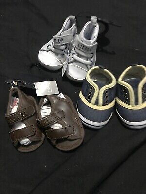 Boys Newborn And 0-3 Months Brand New Shoes Bundle