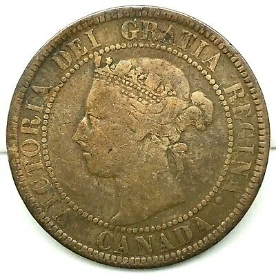 Canada-1901- Large Cent - Queen Victoria- Bronze Coin KM#7