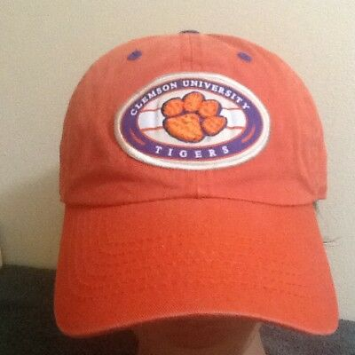 best sneakers 93538 5f282 Clemson University Tigers Hat Faded Orange Baseball Cap Adjustable Silver  Series